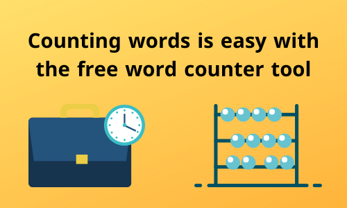 Counting words is easy with the free word counter tool